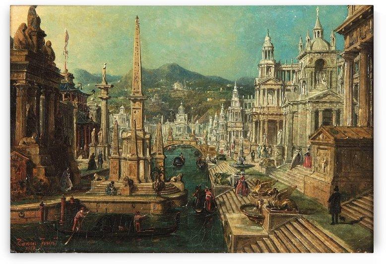 Venetian landscape by Francesco Zanin