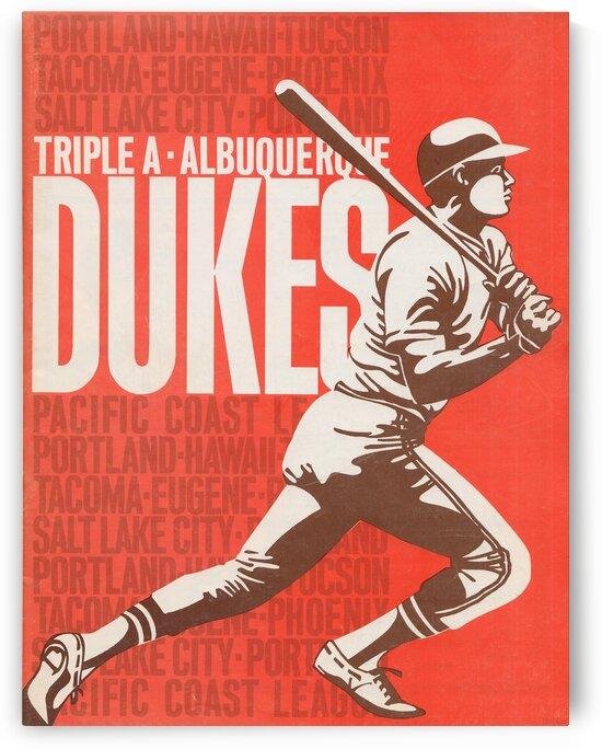 1972 Albuquerque Dukes Poster by Row One Brand