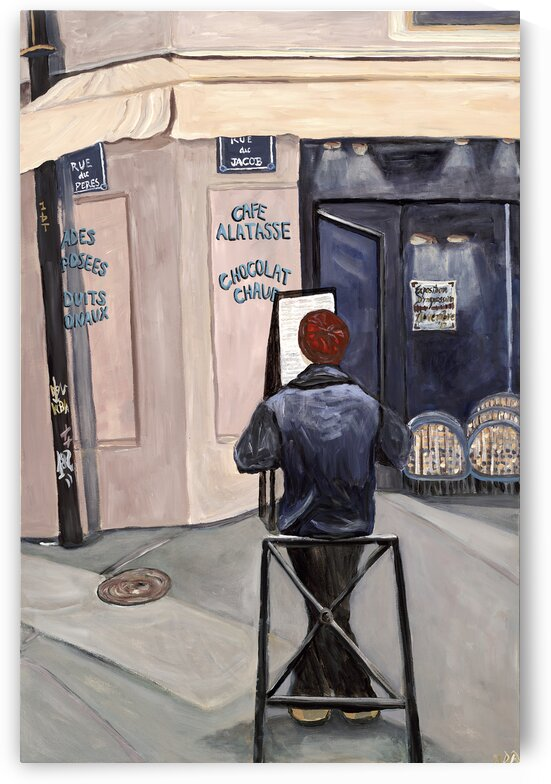 Contemplation Paris by Deborah Alastra