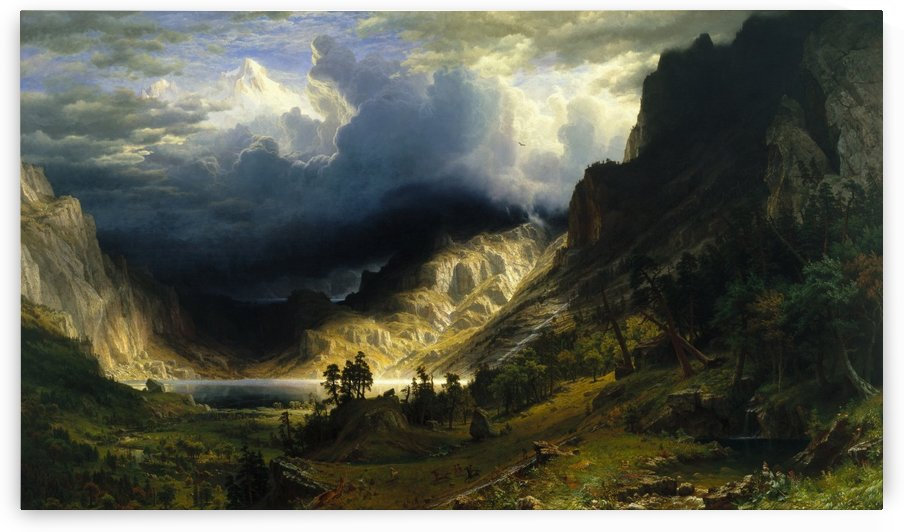 A Storm in the Rocky Mountains by Albert Bierstadt
