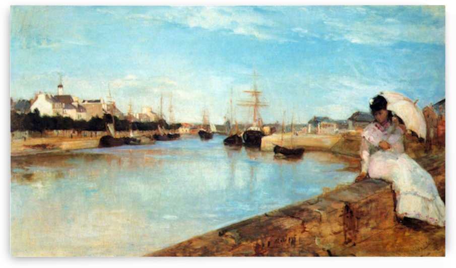 The port of Lorient by Morisot by Morisot