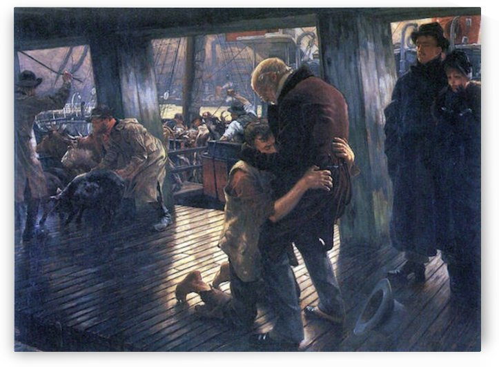 The Prodigal Son in Modern Life - The Return by Tissot by Tissot