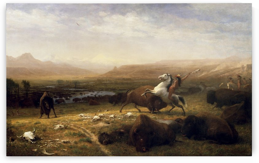 The Last of the Buffalo by Albert Bierstadt