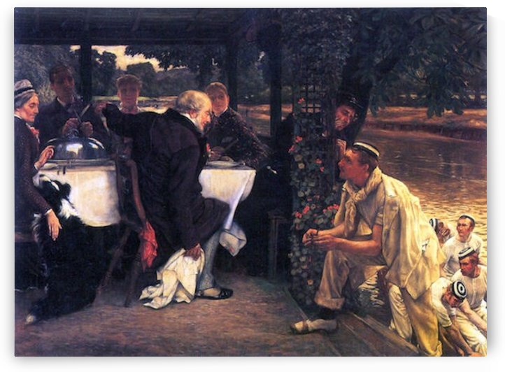 The Prodigal Son in Modern Life- The fattened calf by Tissot by Tissot