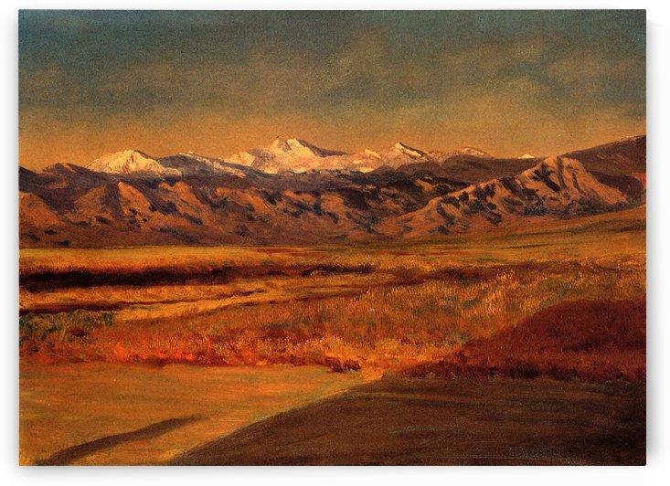 The Grand Tetons, Wyoming by Albert Bierstadt