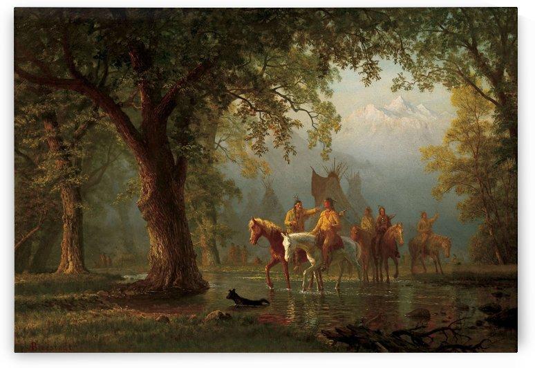 Departure of an Indian War Party by Albert Bierstadt