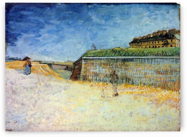 The Ramparts of Paris2 by Van Gogh by Van Gogh
