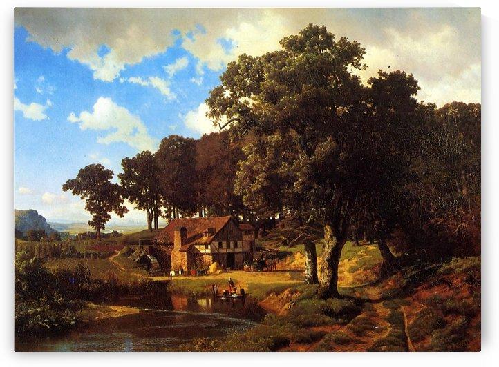 A Rustic Mill, 1855 by Albert Bierstadt