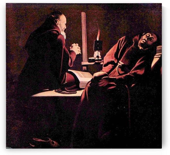 The rapture of St. Francis by La Tour by La Tour