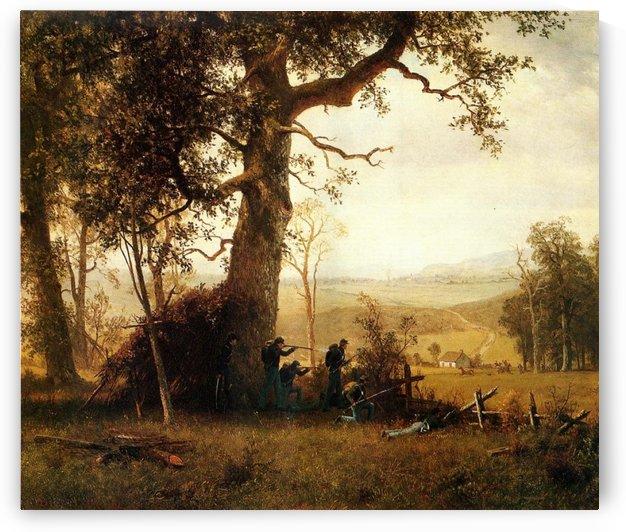 Guerrilla warfare picket duty in Virginia, 1862 by Albert Bierstadt