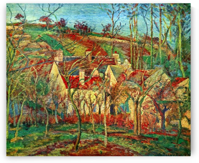 The red roofs by Pissarro by Pissarro