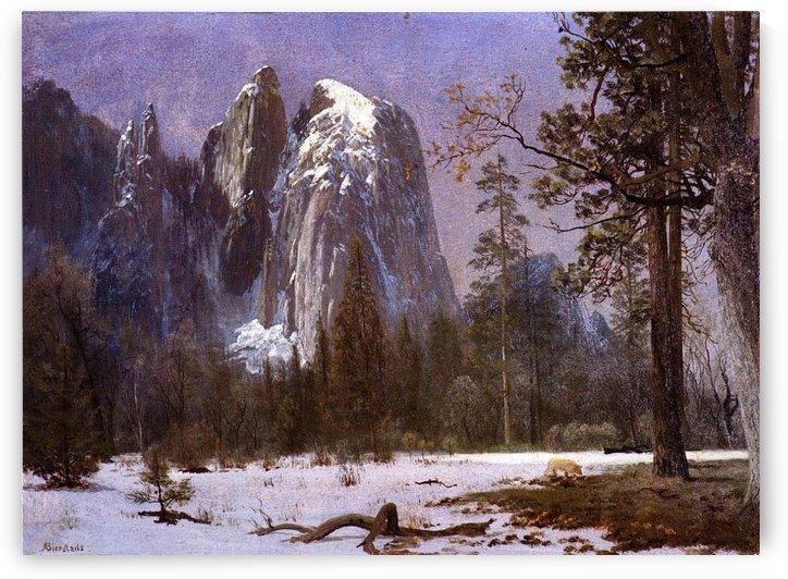 Cathedral Rocks, Yosemite Valley, Winter by Albert Bierstadt
