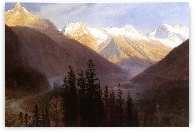 Sunrise at Glacier Station by Albert Bierstadt