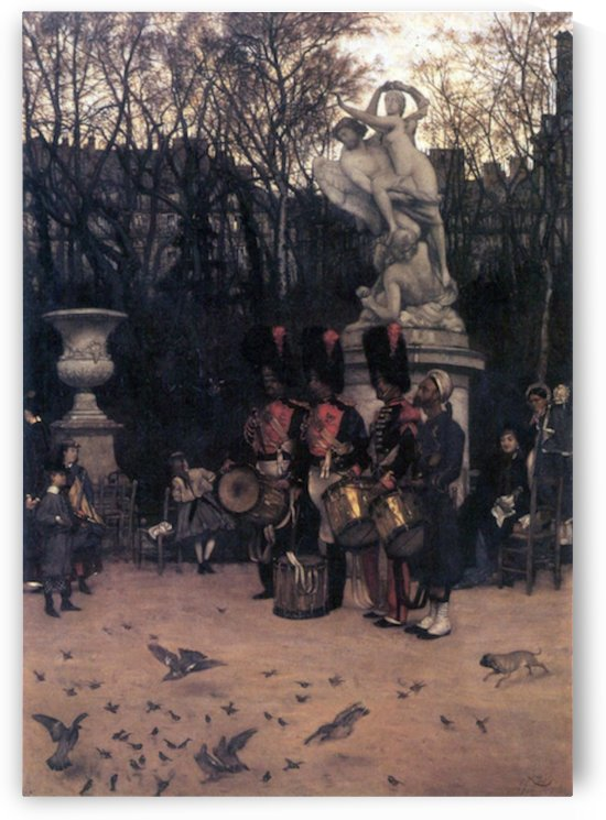 The return march in the Tuileries by Tissot by Tissot
