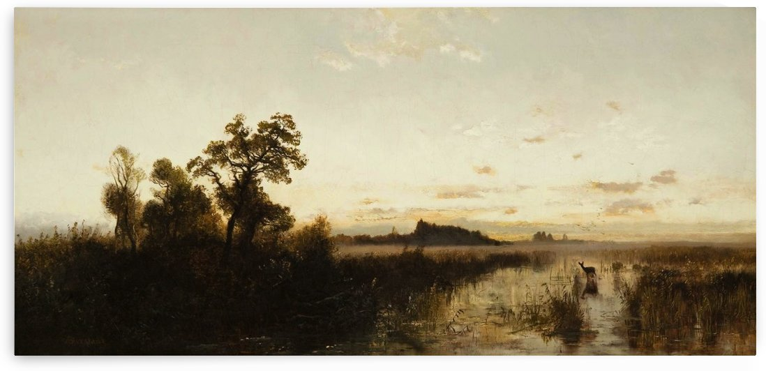 Sunrise on the Platte River in Nebraska by Albert Bierstadt