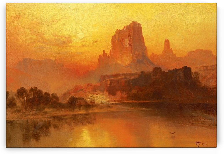 The Golden Hour by Albert Bierstadt
