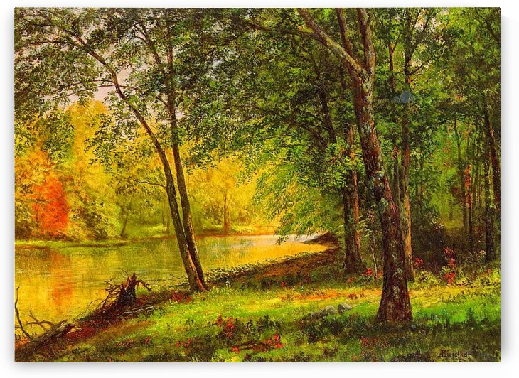 Along the Merced River by Albert Bierstadt