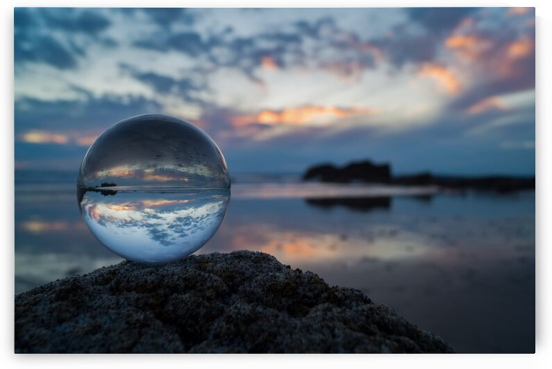 Crystal Glass Ball Portal Druid Stone Haven Beach Pembrokeshire by 7ob