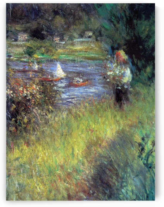 The Seine at Chatou (Detail) by Renoir by Renoir