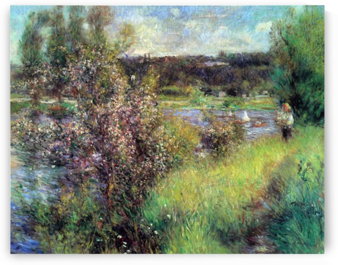 The Seine at Chatou by Renoir by Renoir