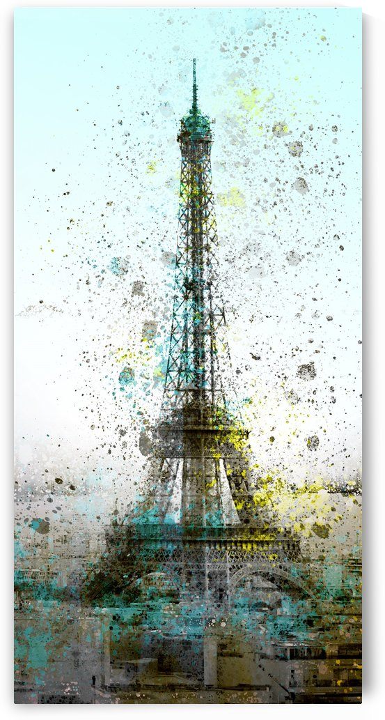 City-Art PARIS Eiffel Tower II by Melanie Viola
