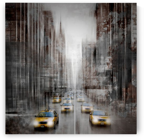 City-Art NYC 5th Avenue Traffic by Melanie Viola