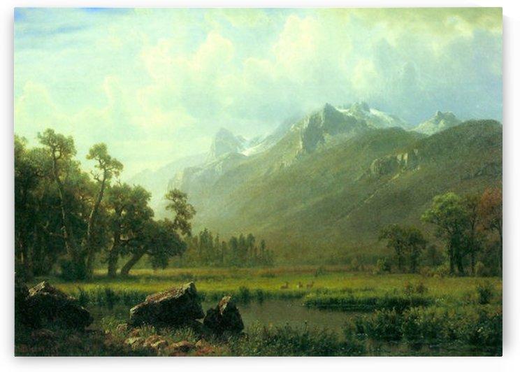 The Sierra near Lake Tahoe, California by Bierstadt by Bierstadt