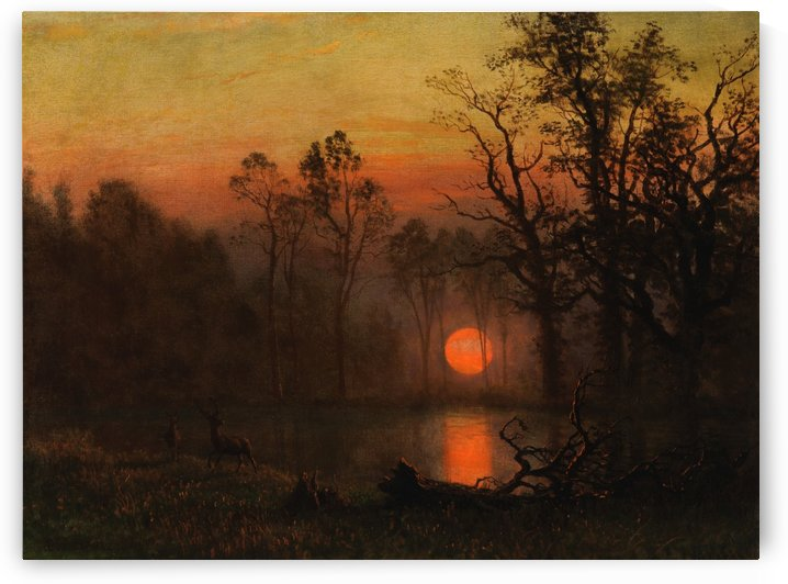 Sunset Over the Plains by Albert Bierstadt