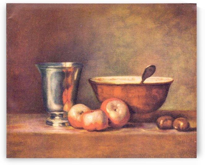 The silver cup by Jean Chardin by Jean Chardin