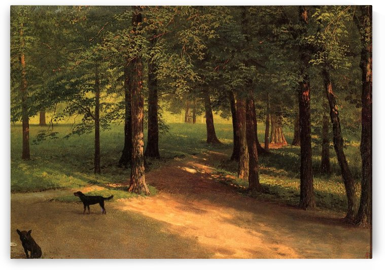 Irvington Woods by Albert Bierstadt