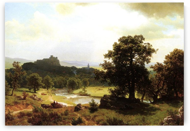 Beginning of the day by Albert Bierstadt