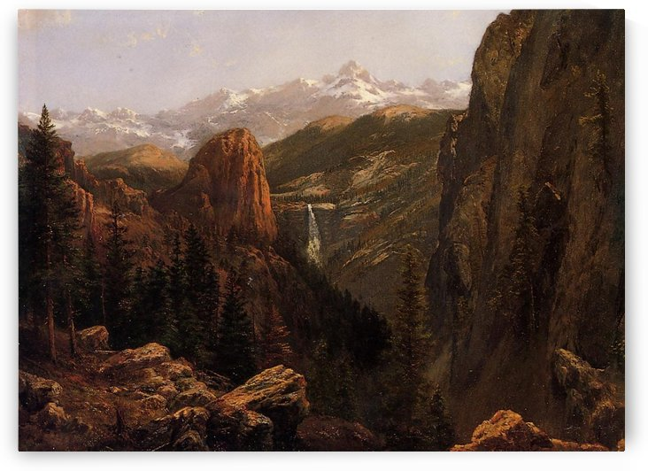 Nevada Falls, Yosemite by Albert Bierstadt
