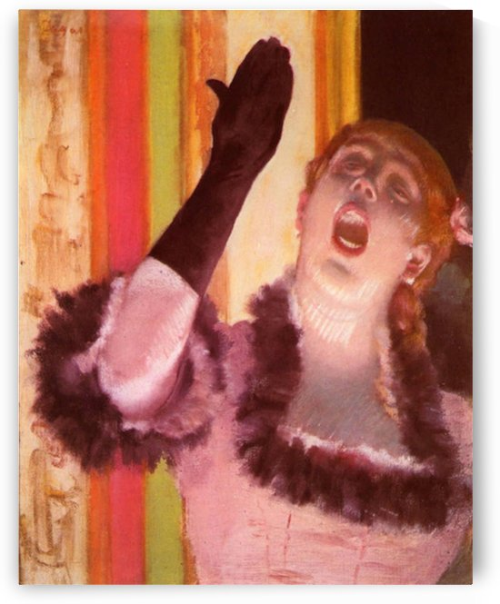 The singer with the glove by Degas by Degas
