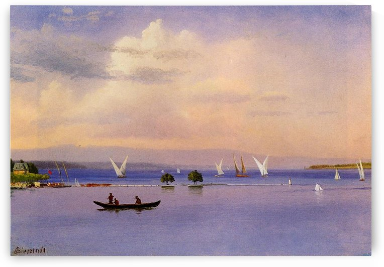 On the Lake by Albert Bierstadt