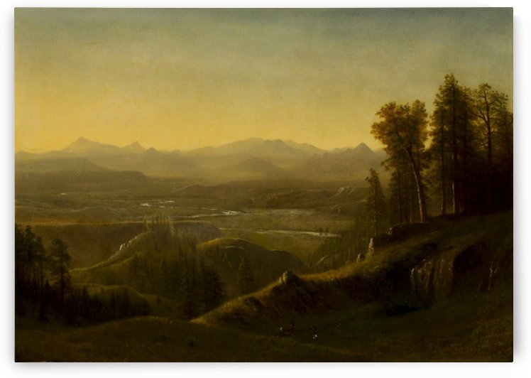 Wind River Country Wyoming by Albert Bierstadt