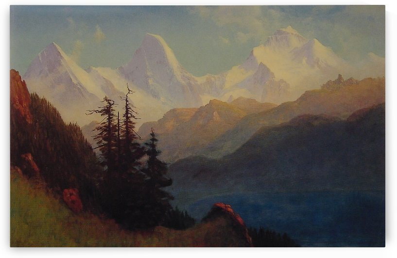 Splendour of the Grand Tetons by Albert Bierstadt