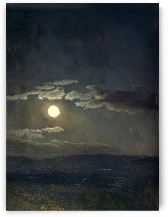 Cloudy Study, Moonlight by Albert Bierstadt