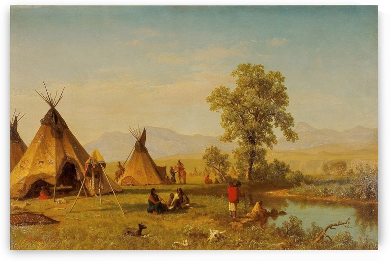 Sioux Village near Fort Laramie by Albert Bierstadt