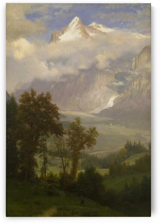 View of Wetterhorn from the Valley of Grindelwald by Albert Bierstadt