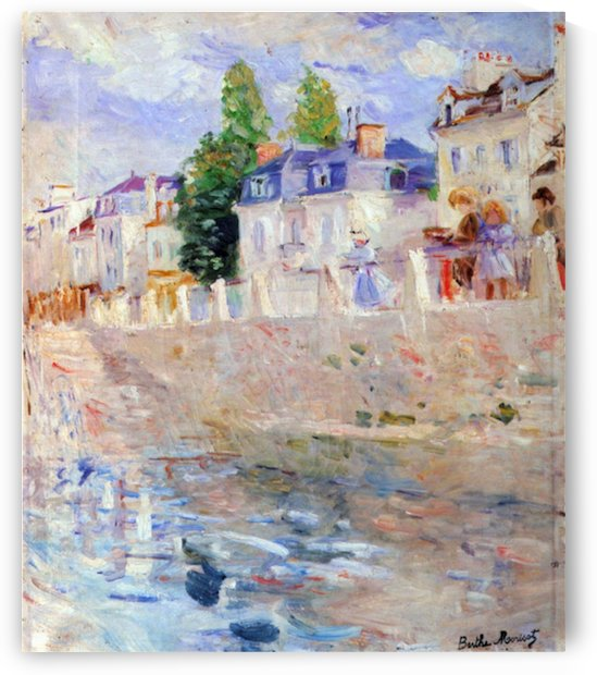 The sky in Bougival by Morisot by Morisot