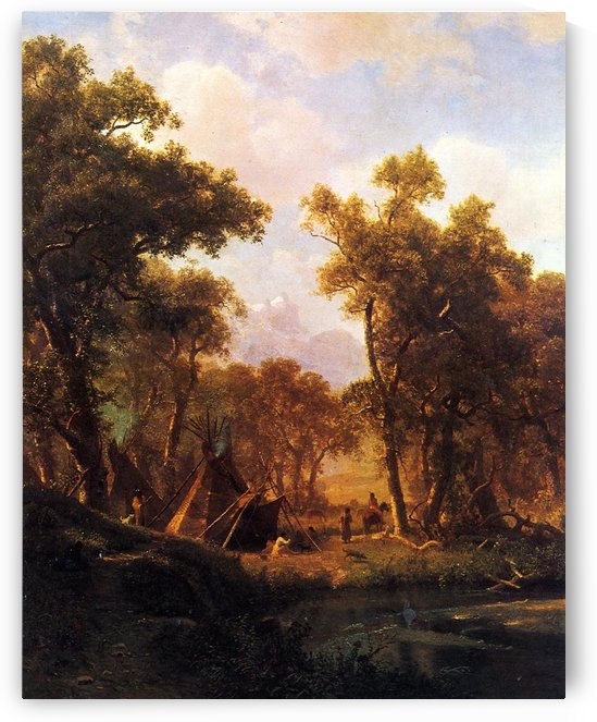 Indian Encampment, Shoshone Village by Albert Bierstadt