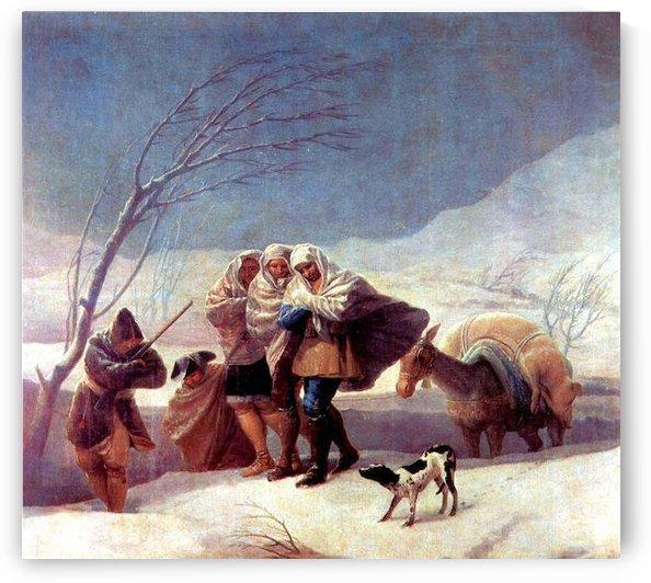 The snowstorm by Goya by Goya