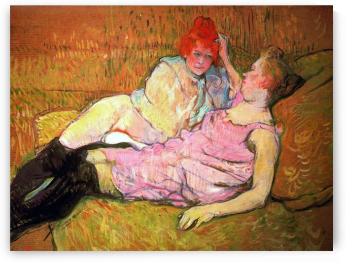 The Sofa by Toulouse-Lautrec by Toulouse-Lautrec