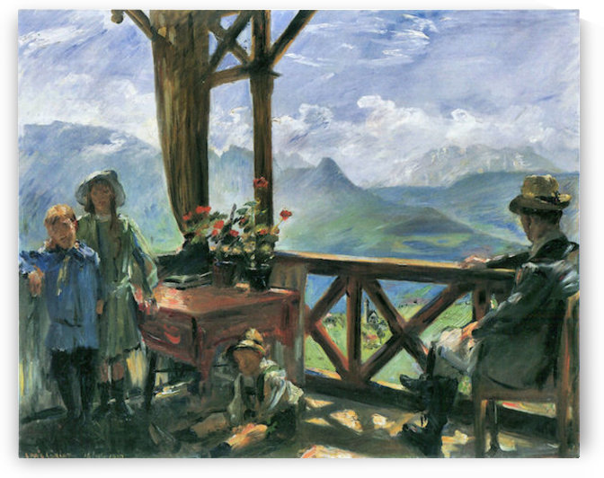 Terrace in Klobenstein, Tyrolia by Lovis Corinth by Lovis Corinth