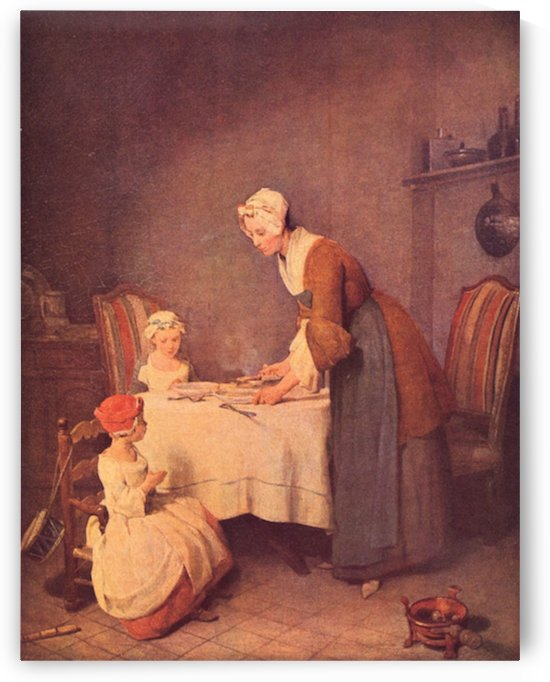 The table prayer by Jean Chardin by Jean Chardin