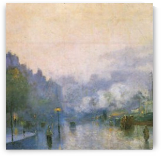 Thames Port by Lesser Ury by Lesser Ury