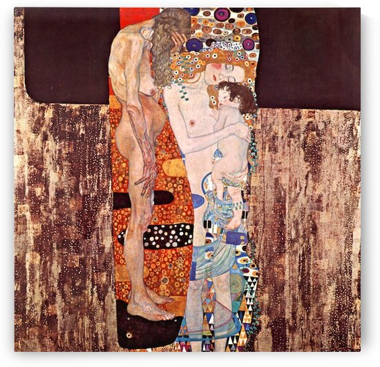 The three ages of a woman by Klimt by Klimt