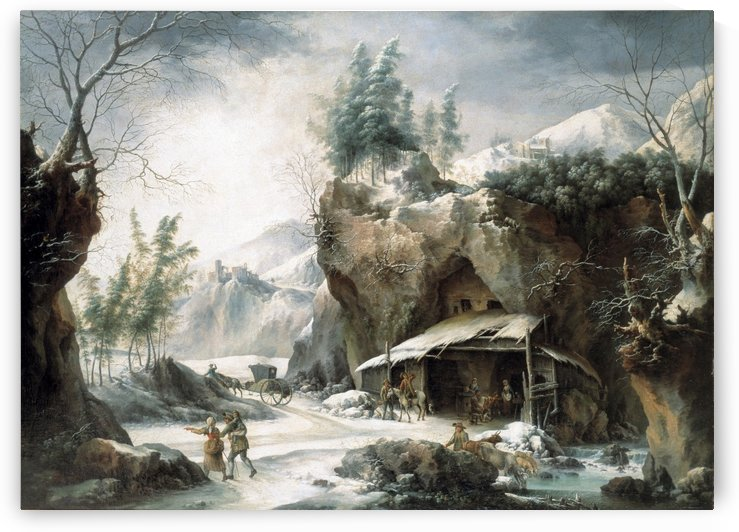 The Caleche in Front of the Shepherd Hut by Francesco Foschi