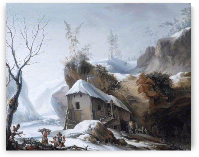 Snowy Landscape by Francesco Foschi