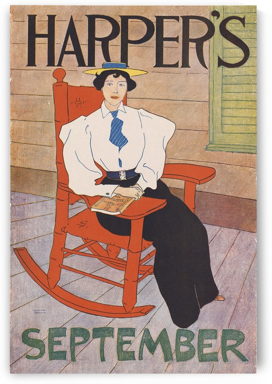 Harpers September by VINTAGE POSTER